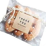 Lumanuby 100 Stück Selbstklebend Tüten Umweltfreundlich OPP Beutel Schöne Gefrostet Verpackungs Beutel mit Kleine Flecken, Nizza Zubehör von Bäckerei oder Dessert Shop/DIY, Größe:10 *...