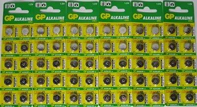 GP A76 LR44 AG13 Alkaline Cell 1.5V Alkaline Button Cell Battery x (60) Batteries