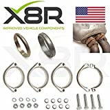 X8R Flanges Kit Rusted Corroded Exhaust Flange Muffler Back Box Repair Kit Compatible with BMW 3 SERIES E46 M3 Version Only 07/1999 — 08/2006 Part# X8R0092