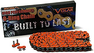 Volar O-Ring Motorcycle Chain for Extended Swingarm - Orange for 525 x 150 Links