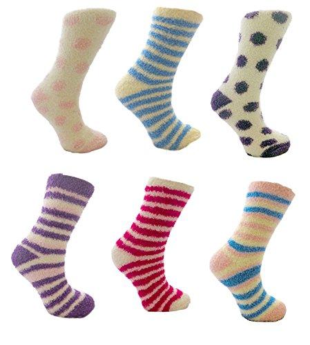 RJM Damen Snowsoft 6-Pack Socken mit Geschenk-Bogen
