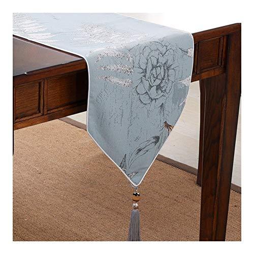 TUANZI Squisito Runner da tavolo Moderna Minimalista de Mesa Mesa de Comedor nórdica Abanderado per Feste, ristoranti e attività all'aperto (Color : Blue, Size : 33x220cm)