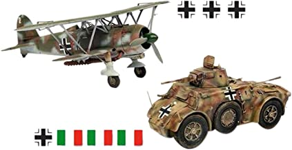 ITALERI Kids Hobby Military Toy Autoblinda AB 41 & CR. 42 LW Scale: 1/48