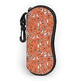sherry-shop Varias poses de gafas de sol para perros Estuche blando con clip para cinturón, Estuche protector para gafas con cremallera de neopreno suave y ligero, 17cm × 8cm