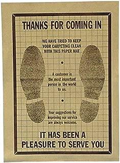 John Dow Industries PFM-500-A Paper Disposable Floor Mat