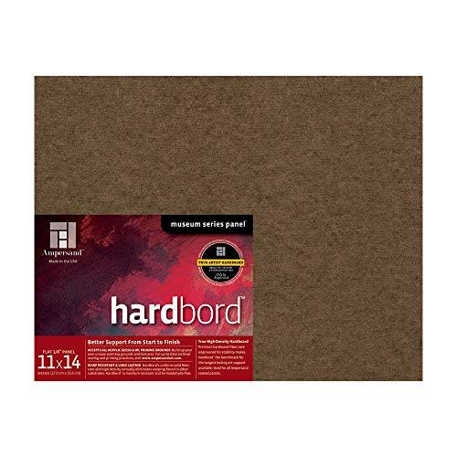 Ampersand Art Supply Hardboard Wood Painting Panel: Museum Series Hardbord, 11'x14', 1/8 Inch Flat Profile