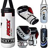 RDX Kinder Boxsack Set Gefüllt Kickboxen MMA Kampfsport Muay Thai Boxen mit Kette Training Handschuhe Kampfsport Schwer Junior 2FT Punching Bag...