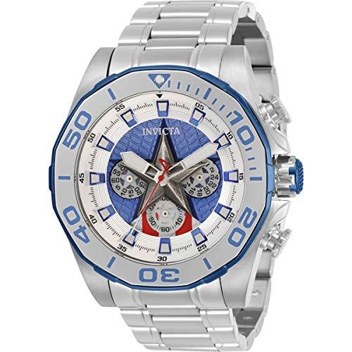 Invicta Marvel Capitan America cronografo al quarzo orologio da uomo 32917