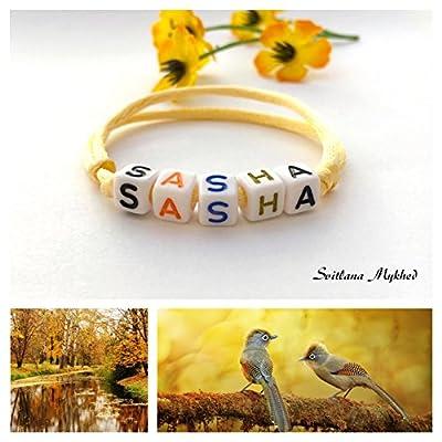 Bracelet SASHA personnalisé avec prénom (réversible) homme, femme, enfant, bébé, nouveau,né.