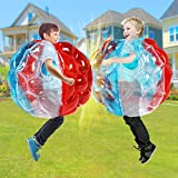 SUNSHINE-MALL PVC Bubble Balls for Kids,Inflatable Buddy Bumper Balls Sumo Game,Giant Human Hamster Knocker Ball Body Zorb Ball for Child Outdoor Team Gaming Play for 3-12 Ages( 24inch 2pcs)