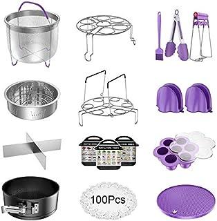 LinGear Accessoires pour Autocuiseur Cuisine, Ensemble de 17 Pièces Compatible avec 5/6 / 8 QT Forme d'Autocuiseur à Resso...