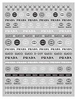 金と銀の3D自己粘着ネイル花ネイルマニキュアのスキルスポーツロゴステッカー (Color : D009 5 sheet)