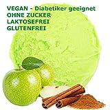 1 kg de crema sabor a manzana canela en polvo de hielo vegana - Azúcar - LACTOSA - GLUTEN - baja en grasa, leche en polvo de helado suave de hielo crema en polvo diabética Gino Gelati