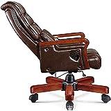 Silla de escritorio giratoria de piel con respaldo alto, ajustable, giratoria con apoyabrazos lumbar, silla ergonómica para casa, oficina, silla reclinable, silla giratoria