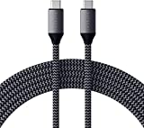 Satechi USB-C a USB-C Cable de Carga de 100W para Dispositivos USB Tipo-C – 2 Metros – Compatible con 2020/2018 iPad Pro, 2020 iPad Air, 2020/2018 MacBook Air, 2020/2019/2018 MacBook Pro (Updated)