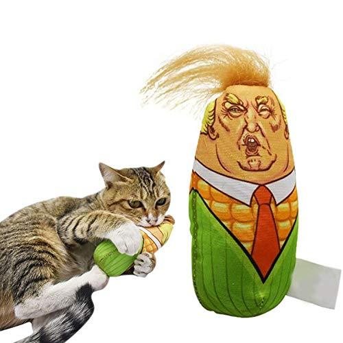 Kaiross Katzenminze Spielzeug, Donald Trump Form Katzenminze Kissen Katze Plüschtier, Mais Design Katzenspielzeug, Katze Kauen Spielen Plüsch Interaktives Katzenminze Spielzeug Wie Gezeigt