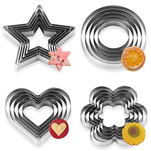 Cookie Cutters, Orpey 20 Pieces Cookie Cutters Set Stainless Steel...