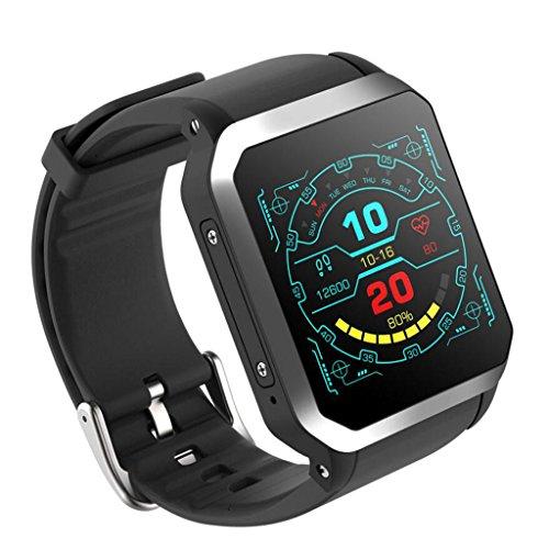 XXHDEE Android Reloj Inteligente KW06 3G Pantalla Cuadrada IP68 Profundidad Impermeable GPS Ritmo Cardíaco En Tiempo Real De Moda 512 + 8GB Reloj Inteligente