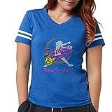 CafePress Girls Softball T Shirt Women's Football T-Shirt Royal Blue