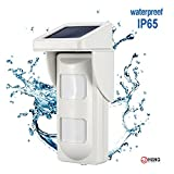 JC 433MHz Wireless Outdoor PIR Detector Motion Sensor Solar Power Pet Immunity for Home Business <span class='highlight'>Security</span> Alarm System Waterproof IP65