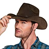 Boland 29238 - Cowboy Utah Cappello, Effetto Pelle, Marrone...