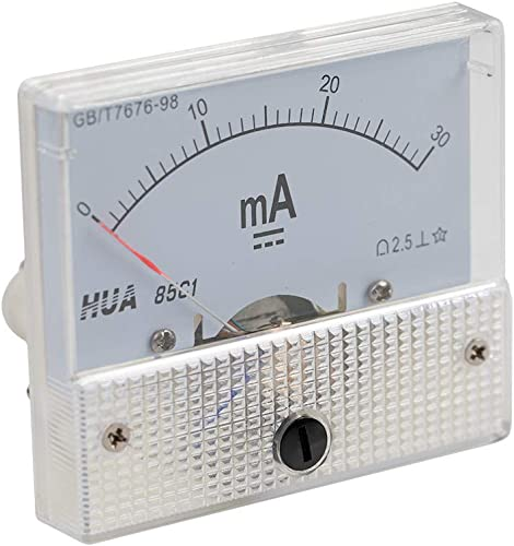 lowest Cloudray 30mA/50mA Ammeter DC 2021 0-30/0-50mA Analog online Amp Panel Meter Current Tester Hua 85C1 (30mA) online sale