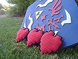 8-Bit Crocheted Red Heart Piece / Legend of Zelda Inspired / Based off of the Original Legend of Zelda NES Heart Graphic