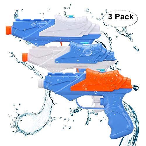 Kids Water Guns,Soni Water Pistol 3 Packs Squirt Gun for Water Fight Great Summer Toys Outdoor for Fun