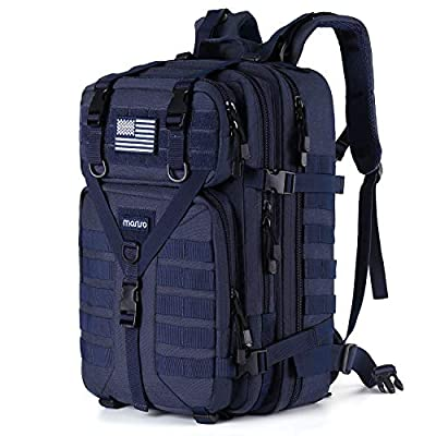 MOSISO 50L Tactical Backpack, Large Men 3 Day Assault Rucksack Military Daypack,Navy Blue
