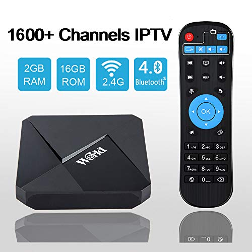 Goldenbox Brasil Indian Arab America International 4K IPTV Receiver Box 1600+ Global Channels Player No Subscription Fee, Sports Movie Kids News VIP Programs ¡­ (Brighten Black)