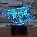 Luz De La Noche Creativo Led Lámpara De Mesa 3D Equipo De Gimnasio Decoración...