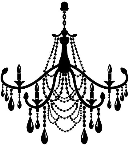 Selling and selling Newclew Studio Burnish Chandelier Style Albuquerque Mall Vinyl Decal Wall 11 Stic