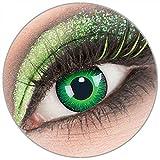 Farbige weiße 'Shining' Kontaktlinsen ohne Stärke 1 Paar Crazy Fun Kontaktlinsen mit Behälter zu Fasching Karneval Halloween - Topqualität von 'Giftauge' -