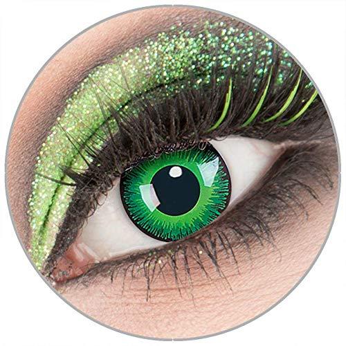 Farbige weiße 'Shining' Kontaktlinsen mit Stärke -3,50 1 Paar Crazy Fun Kontaktlinsen mit Behälter zu Fasching Karneval Halloween - Topqualität von 'Giftauge'