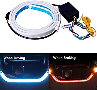 Tail Light, JAYEJA 5 Function Car Trunk Brake Turn Light Lamp 5050 Led Running Signal Light Car Warning Light (New Version)