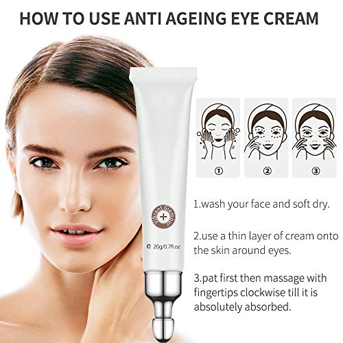 51jf2FAWBnL - 2 PCS Eye Cream for Dark Circles and Puffiness Under Eye Bags Fine Lines Wrinkles, Ms.DEAR Anti Aging Under Eye Treatment with Natural Crocodile Oil for Women 0.7Oz