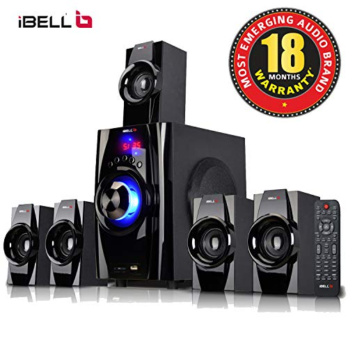 iBELL IBL2045DLX 5.1 Home Theater Speaker System Multimedia with FM Stereo, Bluetooth,...
