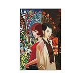 Pimentón Anime Póster de Ciencia ficción japonesa Psicológica de Ciencia ficción Póster decorativo lienzo pared arte para sala de estar o dormitorio pintura 30 x 45 cm