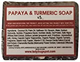 1 BAR - Natural Handmade Papaya Turmeric Skin Lightening Soap for Acne Scars, Age Spot, Liver Spot, 6 oz Bar