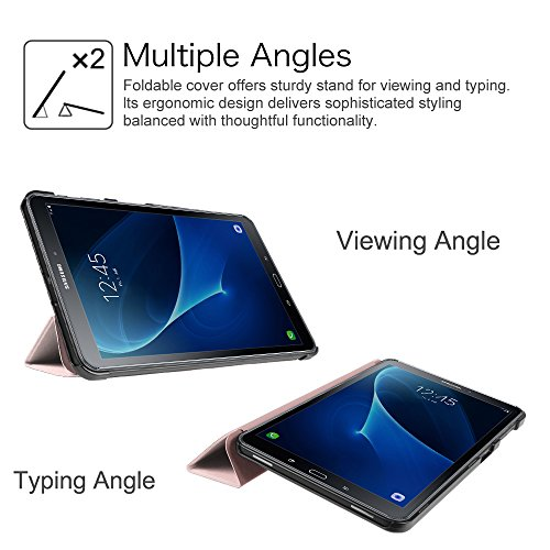 Fintie Hülle für Samsung Galaxy Tab A 10.1 2016 - Ultra Schlank Superleicht Ständer Schutzhülle mit Auto Schlaf/Wach Funktion für Samsung Galaxy Tab A 10,1 Zoll T580N / T585N, Roségold