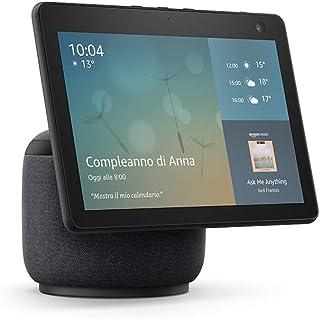 Nuovo Echo Show 10 (3ª generazione)   Schermo intelligente in HD con movimento e Alexa, Antracite