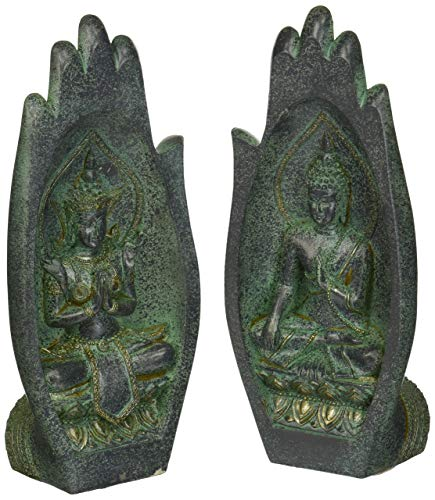Design Toscano QL301785 Namaskara Mudra Buddha Hands Statue,verdigris