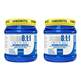 Yamamoto Nutrition Bcaa 8:1:1 integratore alimentare di aminoacidi a catena ramificata con vitamine B1 e B6 (2 confezioni (1000 compresse))