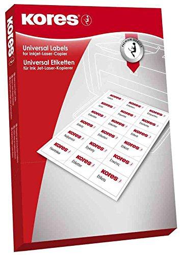 Kores L7041 Universal-Etiketten, 70 x 41 mm, weiß, 100 Blatt