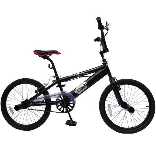 Vélo BMX - 20 Pouces, Guidont pivotant à 360°, Freins V Brake, 4 Pegs, Noir - Bicyclette Vélo Freestyle, BMX Bike