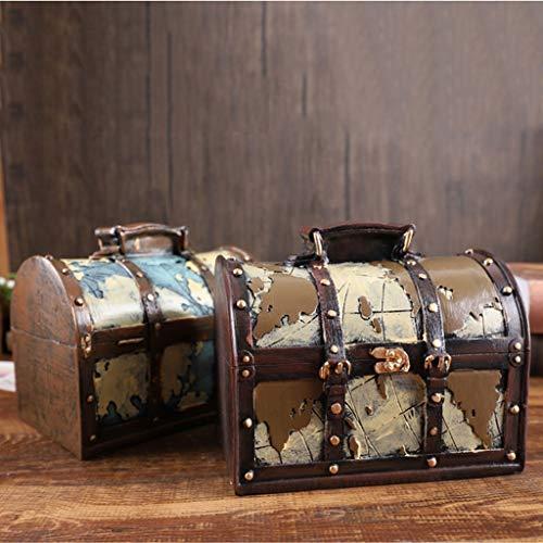 KGDC Huchas Caja de Dinero Retro Resina Creativa Caja de Dinero Adulto Billetes de Banco domésticos y Monedas Caja de Dinero Hucha Contador (Color : B)