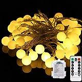 AeeYui Guirnalda Luces Led, 5M 50 LED Guirnaldas 8 Modos Led Luces, IP44 Impermeable, Decoracion para Navidad, Festivales, Bodas, Cobertizos, Patios, Jardines, Pérgolas