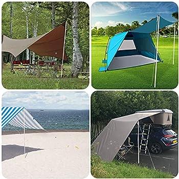 Hidewalker 2X2M Mât de Tente Télescopique Réglable 50-200 cm Tige de Tente de Construction pour Camping Randonnées Abri et Porche Auvent Ensemble (Uniquement Poteau en Aluminium, 2)