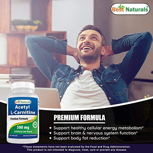 Best Naturals Acetyl L-Carnitine 500 mg 120 Capsules
