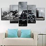 runtooer Bilder Dekorative malerei Spray malerei leinwand malerei 5 stück 800 Amg G63 Auto Leinwand Wandbild, Möbel Art Deco, Rahmen